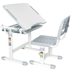 VIVO Height Adjustable Childrens Desk & Chair Kids Interactive Work Station Grey (DESK-V201G) - http://allfurniture.org/vivo-height-adjustable-childrens-desk-chair-kids-interactive-work-station-grey-desk-v201g/