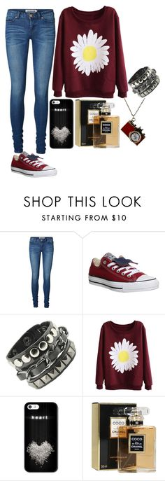 """Untitled #999"" by mihai-theodora ❤ liked on Polyvore featuring Vero Moda, Converse, Chanel, women's clothing, women, female, woman, misses and juniors"