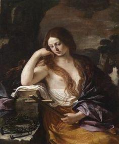 Giovanni Francesco Barbieri, called Guercino (Cento 1591 – 1666 Bologna)  Saint Mary Magdalene