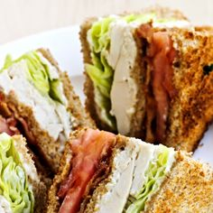 easy turkey club recipe that will satisfying a hunger appetite at lunch. - An easy turkey club recipe that will satisfying a hunger appetite at lunch. Hot Turkey Club Sandwi -An easy turkey club recipe that will sati. Turkey Club Sandwich, Club Sandwich Recipes, Chicken Sandwich Recipes, Soup And Sandwich, Lunch Recipes, Dinner Recipes, Cooking Recipes, Healthy Recipes, Sandwich Menu