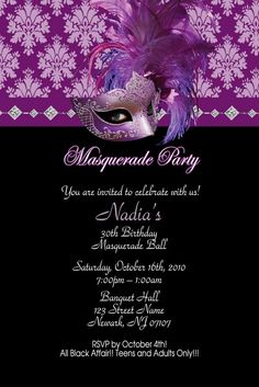 Masquerade Sweet 16 Party ideas....I so want a Masquerade sweet sixteen!