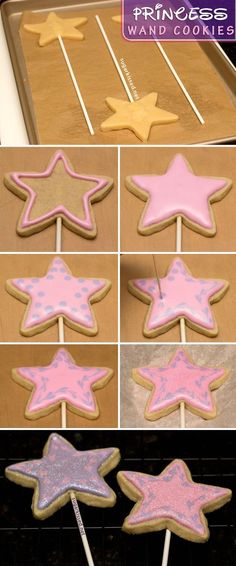 How To Make Princess Wand Cookies - FOODIEZ-eatzFOODIEZ-eatz