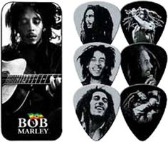 Bob Marley Was A Committed Rastafari And Infused His Music With Spirituality. He Joined The Wailers In 1963 And disbanded In 1974 To Pursue A Solo Career. Guitar Pick Set Features 6 Portraits Of The Worlds Best Selling Artist  #Dunlop #Guitar