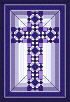 Christian Cross - ... by Judit Hajdu | Quilting Pattern - Looking for your next project? You're going to love Christian Cross - 44 Love this cross quilt