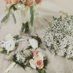 Elegant peach roses