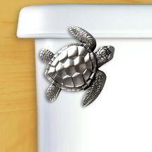 Sea Turtle Pewter Toilet Flush Handle