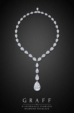 Diamond Necklaces : D Internally Flawless Diamond Necklace by Graff Diamonds. With true diamond mast
