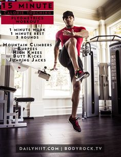 15 Minute Calorie Torching Plyometrics Workout