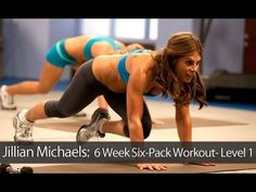 Jillian Michaels: 6 Week Six-Pack Workout- Level 1 is a high intensity fat-blasting abdominal workout that employs a sure-fire combination of core-focused cardio circuits and ab-toning exercises that target multiple muscle groups simultaneously to boost the metabolism, slim the waistline, and chisel rock-hard abs.  ***Ok Erin, no excuse now. It worked the first time I tried it on my computer :)