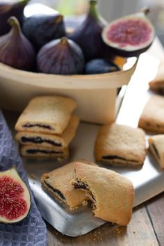 Homemade fresh Fig Newtons — Michelle Bessudo Fresh Fig Newton Recipe, Fig Newtons With Fresh Figs, Fig Roll Recipes, Homemade Fig Newtons, Fig Rolls, Fig Bars, American Cookie, No Bake Bars, Food Now
