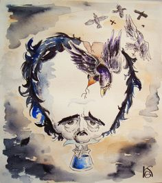 """Depend upon it, after all, Literature is the most noble of professions. In fact, it is about the only one fit for a man. For my own part, there is no seducing me from the path."" Edgar Allan Poe Illustration by ZlobnaVe6ti4ka"