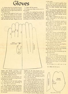 what-i-found: Can you make your own Gloves?