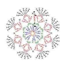 かぎ針編みのモチーフ、花、模様編み、コードその他の編み方を、無料編み図、動画で紹介します。