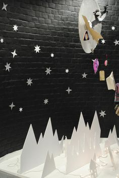 Paper cut Christmas Window 2012