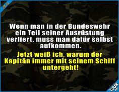 Das Ding würde ich auch nicht zahlen wollen! #Bundeswehr #Marine #nurSpaß #Witze #Sprüche #lustig #Humor #Witz