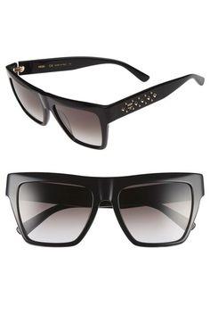 MCM 55mm Studded Navigator Sunglasses available at  Nordstrom Studs,  Pierced Earrings, Stilettos 3d4819f21651