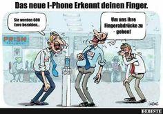 Das neue iPhone erkennt deinen Finger..   Lustige Bilder, Sprüche, Witze, echt lustig #hwg