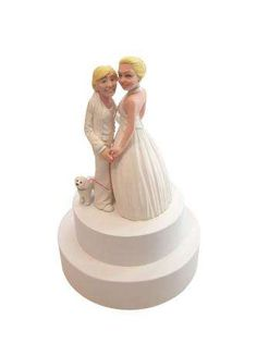 unorthodox cake toppers - With wedding season in full gear, brides and grooms will be on the hunt for unique decorations and designs, why not include these unorthodox cake t. Fun Wedding Cake Toppers, Wedding Cakes, Ellen Degeneres Wedding, Wedding Season, Wedding Day, Groom, Seasons, Bride, Disney Princess