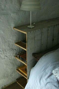 Bookshelf headboard
