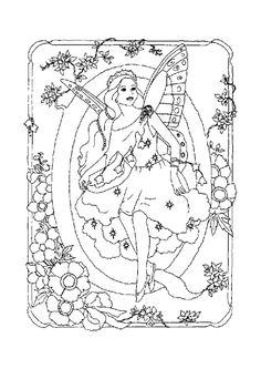 Coloriage alphabet fee q sur Hugolescargot.com - Hugolescargot.com