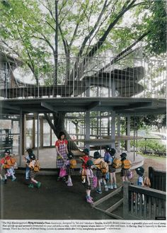 Ring Around a Tree classrom for Fuji Kindergarten, Tokyo, designed by Yui and Takaharu Tezuka