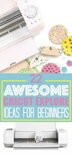 I bet you've just received your very own Cricut Explore and you're ready to get creative! Today I'm sharing with you 22 awesome beginner Cricut Explore ideas. These are perfect beginner Cricut Explore craft ideas.