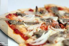 Pizza arrabiata con pluma ibérica