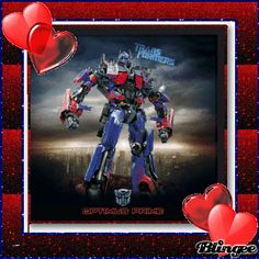 Transformers for my son's V-day cards