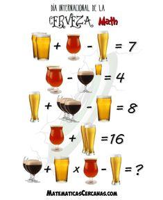 Hoy es el Día Internacional de la Cerveza (primer viernes de agosto) y, como ya sabéis, aquí celebramos estas cosas con matemáticas.