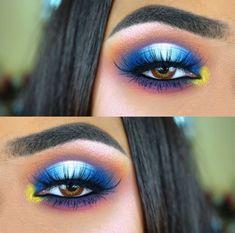 Colorful halo eyeshadow makeup