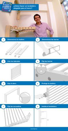 ¡Con este tendedero podrás colgar la ropa dentro de la casa, incluso en espacios pequeños!