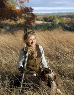 Georgia Pellegrini with dog and gun | Georgia Pellegrini www.georgiapellegrini.com