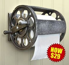 Description This wall-mounted fishing reel toilet paper holder is made of polyresin stone and measures W x H x D. It holds a double or standard roll of toilet paper. Such a wonderful… Fish Bathroom, Small Bathroom, Bathroom Ideas, Bathroom Makeovers, Bathroom Bin, Master Bathroom, Bathroom Cabinets, Bathroom Remodeling, Brown Bathroom