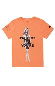 "Marc Jacobs Nude Naked Skin Tee Kate Upton in TANGERINE Color. eBay Store US $59.99    - ""Marc Jacobs will donate all proceeds from the sale of this t-shirt to NYU Skin Cancer Institute.""    #MarcJacobs #MarcByMarcJacobs #Fashion #KateUpton #eBay #Tshirt #Skin #Nude #Naked #TANGERINE #Orange                                                                                           Plus"