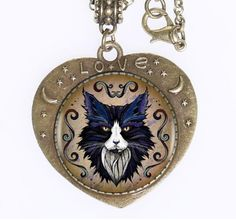 Find More Pendant Necklaces Information about Drop Shipping Cat Necklace,Glass Heart Shape Pendant 24''/60CM Long Chain,Bronze Color,Fashion jewelry,New Hot Style,High Quality cat necklace,China long chain Suppliers, Cheap drop necklace from DreamFire Store on Aliexpress.com