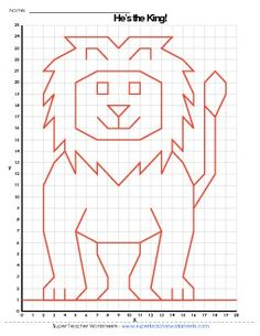 Lion graphing picture