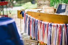 Ribbon Bunting|Navy