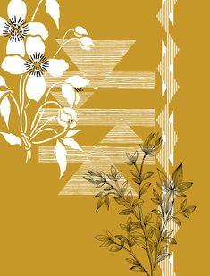 Trim Tale on Behance Textile Pattern Design, Floral Pattern Vector, Textile Patterns, Pattern Art, Adobe Photoshop, Adobe Illustrator, Paisley Art, Graphic Design Print, Linocut Prints