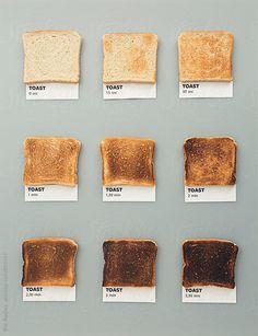 Toast colors by CACTUS Creative Studio - Pantone, Toast - Stocksy United Food Design, Menu Design, Website Color Schemes, Brown Aesthetic, Cream Aesthetic, Aesthetic Colors, Cooking Time, Food Styling, Food Art