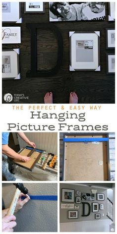 How to Hang a Picture - The Easy Way. Create a picture wall or gallery wall with these easy steps. This hanging picture frame tip will save you time and stress - from