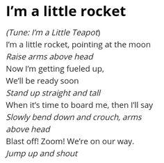 I'm a little rocket.