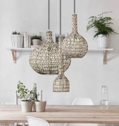 Limited edition rattan wicker natural Handmade Pendant Light in grey fiber. *Notice that the pendant comes without bulbs but fits all voltages