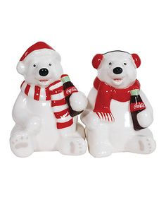 Look at this #zulilyfind! Coca-Cola Holiday Polar Bear Salt & Pepper Shakers by Coca-Cola  #zulilyfinds