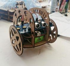 Modelo de vehículo de fácil montaje para kiwibot