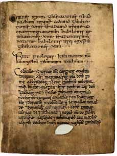 "The Book of Deer is a tenth century illuminated manuscript from North East Scotland. As the only pre-Norman manuscript from this area known as ""former Pictland"" it provides us with a unique insight into the early church, culture and society of this period. Amid the Latin text and the Celtic illuminations there can be found the oldest pieces of Gaelic writing to have survived from early Medieval Scotland"