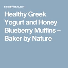 Healthy Greek Yogurt and Honey Blueberry Muffins – Baker by Nature