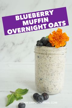 Blueberry Oat Bars, Blueberry Overnight Oats, Blueberry Oatmeal Muffins, Overnight Oatmeal, Blue Berry Muffins, Healthy Breakfast Smoothies, Healthy Breakfasts, Clean Eating Desserts, Eating Healthy