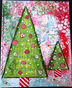 Christmas mixed media