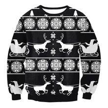 2016 Sweater women Autumn and Winter hoodies Halloween Santa Claus costume Christmas Sweater Wei clothing sports Sweatshirts(China (Mainland))