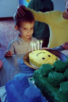 LEGO PARTY - Lego face cake